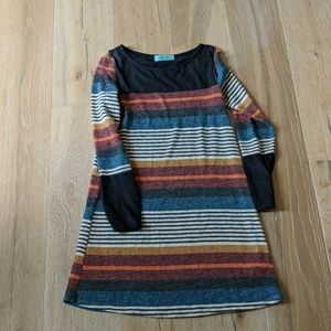 Striped long sleeve dress by filly flair